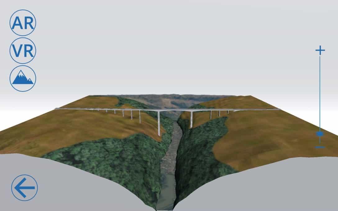 Sanral Augmented reality bridges - Bridge 1 Model Menu