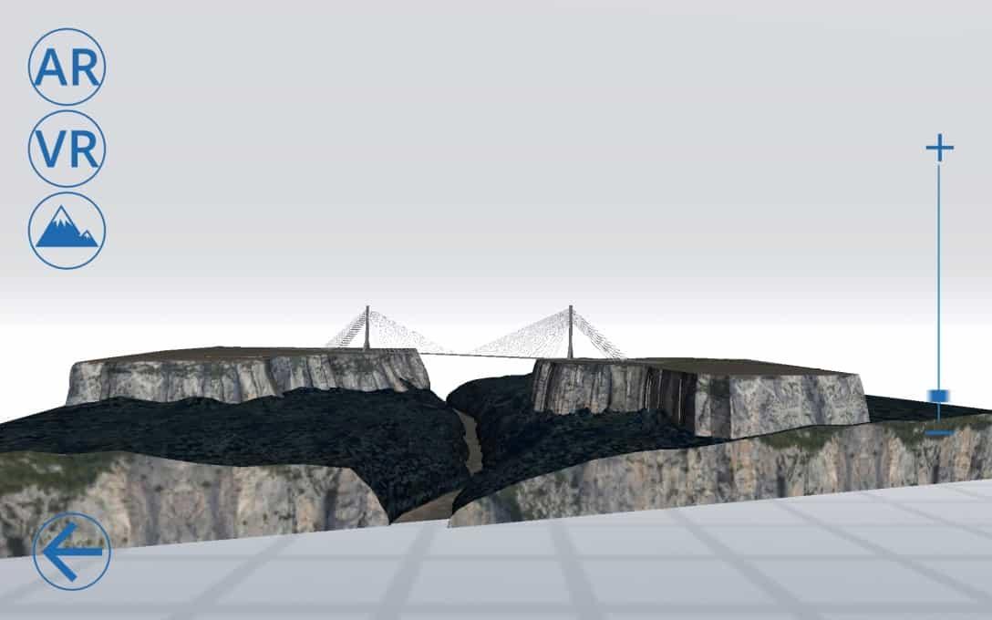 Sanral Augmented reality bridges - Bridge 2 Model Menu