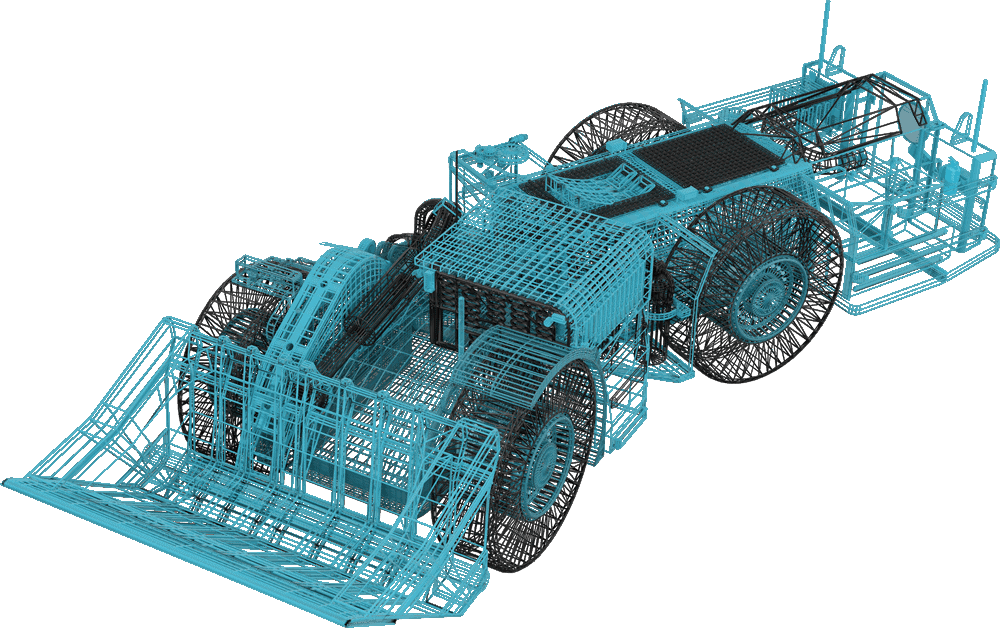 FusionSim LHD Wireframe