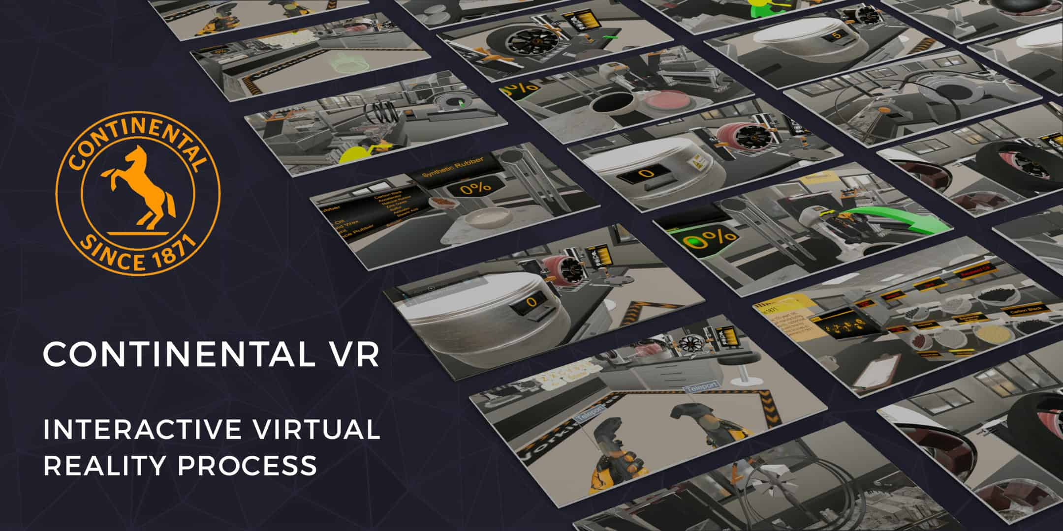 Read more about the article CONTINENTAL VR<br> Continental used an interactive virtual reality experience to gamify their tyre making process and allow people from around the country to make their own personalised tyre model.