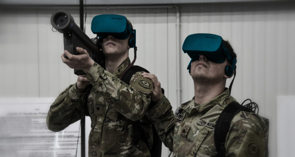 Military and security VR training