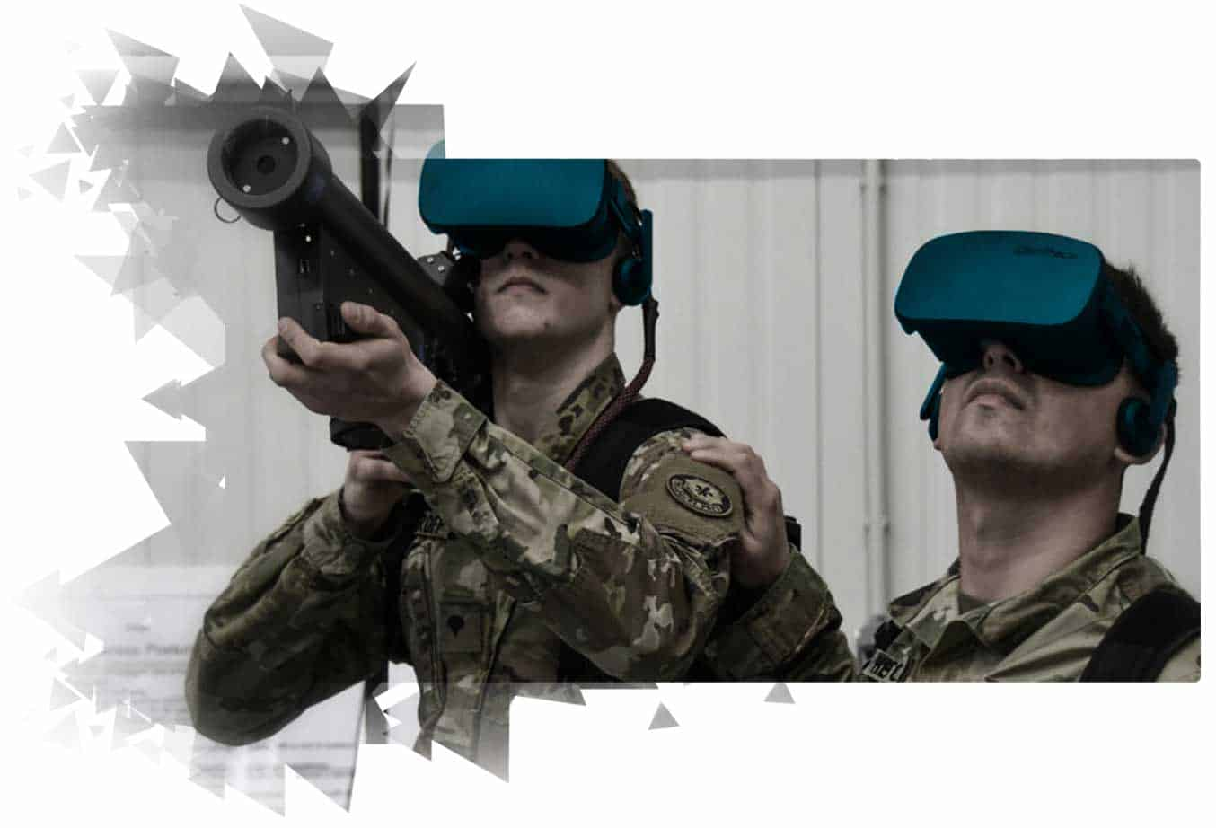 Virtual reality training for military and security